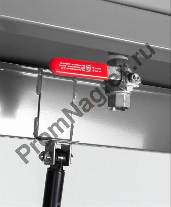 Ёмкость стальная для промывки крупных деталей с резервуаром для погружения, 60 литров, газовая пружина для закрытия крышки