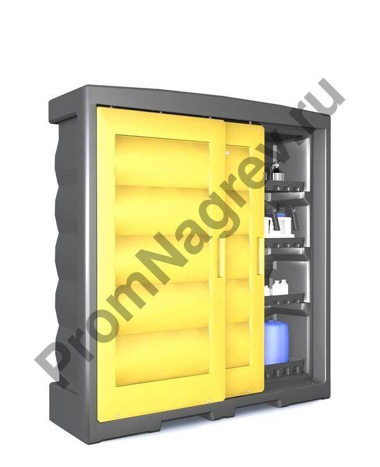 Шкаф с пластиковыми поддонами и раздвижными дверьми, PolyStore