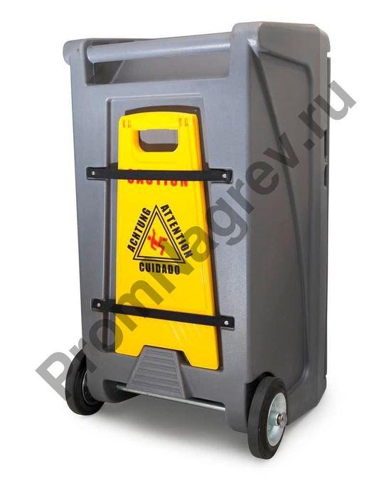 Мобильный аварийный набор в пластиковом контейнере, крепёж для предупреждающего знака на задней поверхности.