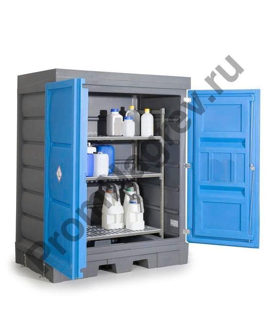 Полиэтиленовый PolySafe склад с пластиковой полкой, для небольших контейнеров.