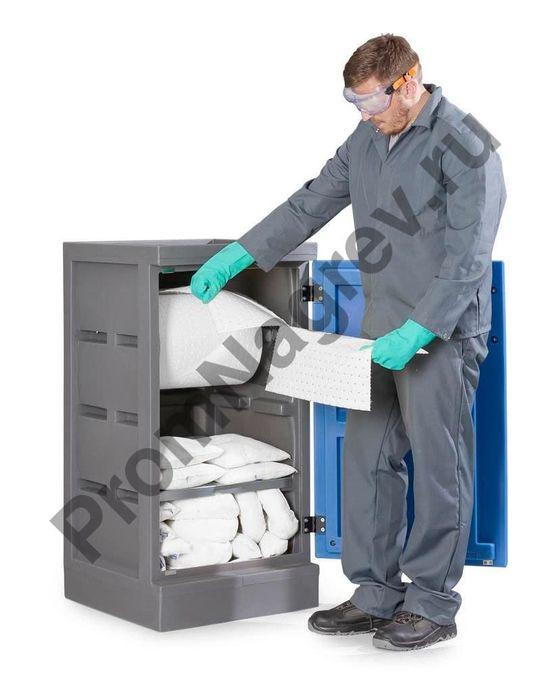 Отпуск веществ из шкафчика типа S для сорбентов аварийных.