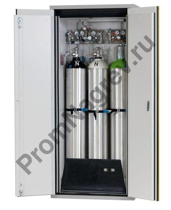 Шкаф для трёх газовых баллонов огнестойкий 900-миллиметровый G90.9 с двустворчатой распашной дверцей