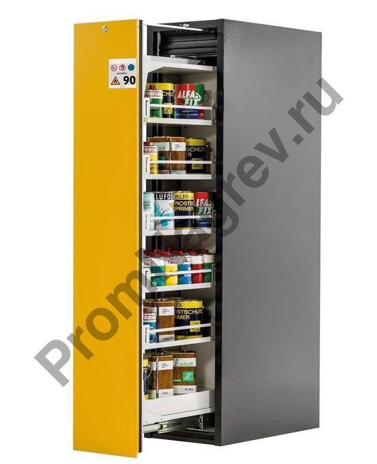 Шкаф Slim-Scoper для опасных веществ с вертикальным выдвижным механизмом, 5 полок