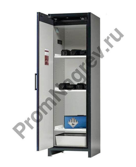 Шкаф для хранения батареек и аккумуляторов с трем полками, SafeStore.