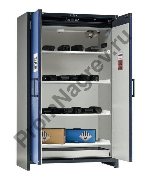 Шкаф на четыре полки расширенной комплектации под аккумуляторы, SafeStore-Pro.