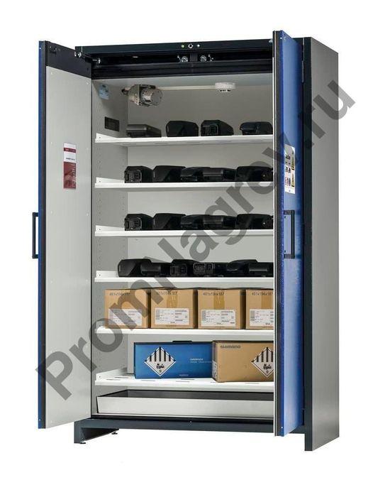 Шкаф огнестойкий (хранение аккумуляторов) с 6 полками, SafeStore-Pro.