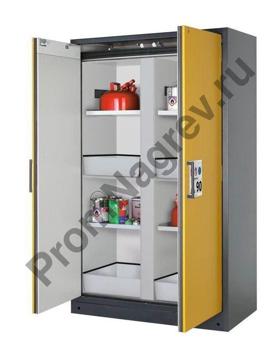 Огнестойкий шкаф с лотками, полками и центральной перегородкой