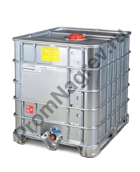 Контейнер IBC для опасных грузов со стальной оболочкой, взрывозащищенное исполнение, стальные полозья, 1000 литров