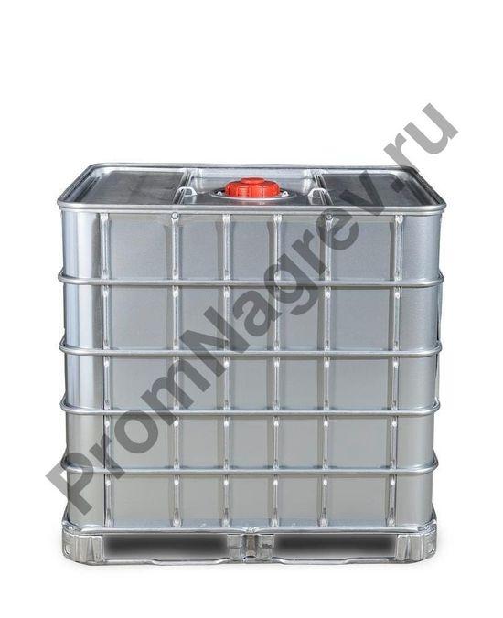 Контейнер IBC для опасных грузов со стальной оболочкой, взрывозащищенное исполнение, стальные полозья, 1000 литров, заливное отверстие NW150