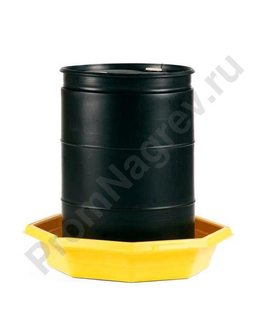Поддон для предотвращения протечек с держателем для крышки контейнера, форма восьмиугольник, объем 80 литров