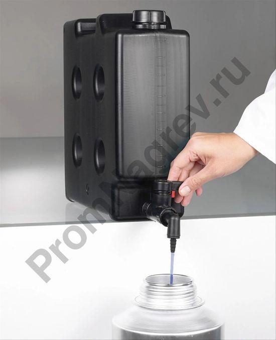 Компактная канистра со сливным краном, электропроводящая, объем 10 литров