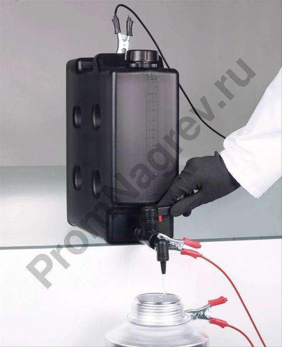 Компактная канистра со сливным краном, электропроводящая