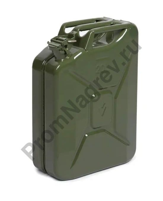 Топливная канистра из листовой стали, зеленая, 20 литров