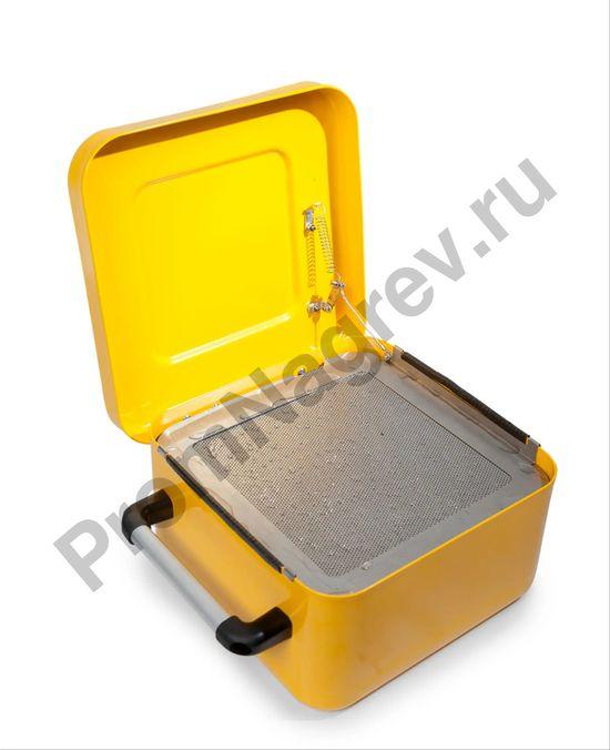 Ёмкость стальная для промывки мелких деталей, окрашенная, с решёткой для погружения, 8 литров, 400 х 320 х 160 мм