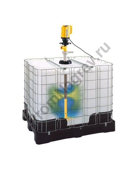 Насос для еврокубов и перемешивающее устройство из полипропилена для химических смесей