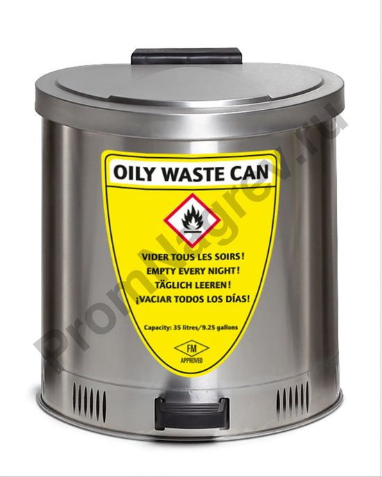 Сборный резервуар из нержавеющей стали с крышкой, 35 литров