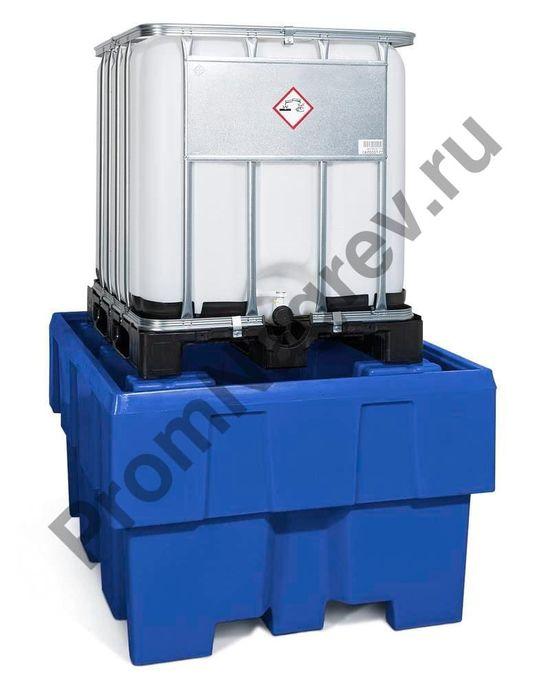Поддон пластиковый классический без решётки на один евроконтейнер (IBC).