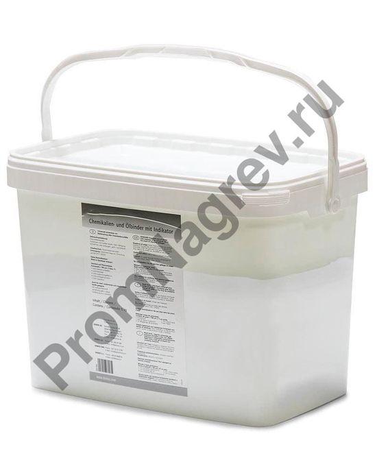 Шесть килограмм гранул на любую погоду, в ведре емкостью 9 литров, для масла и нефти.