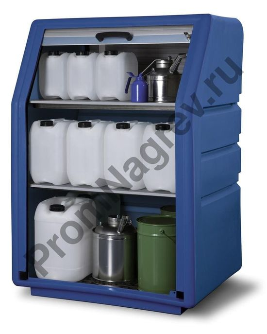Синий шкаф из пластмассы с дверками-жалюзи, PSR 8.8.