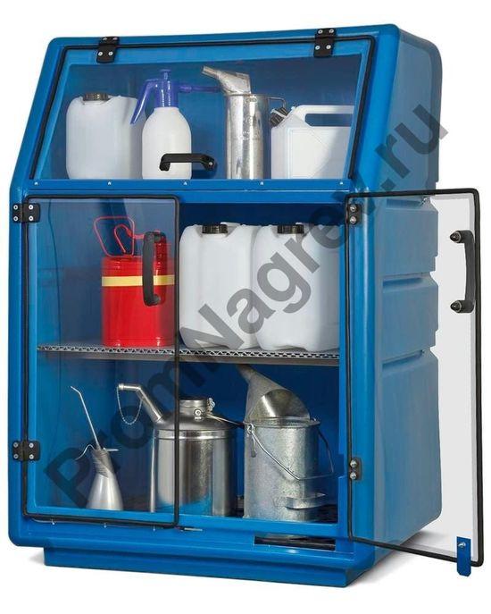 Синий шкаф с прозрачными дверками, PSR 8.8.