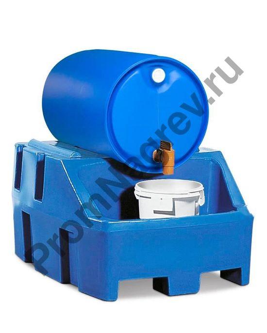 Синтетическая станция заправки на одну бочку, синяя (вместимость: бочка 200 литров)