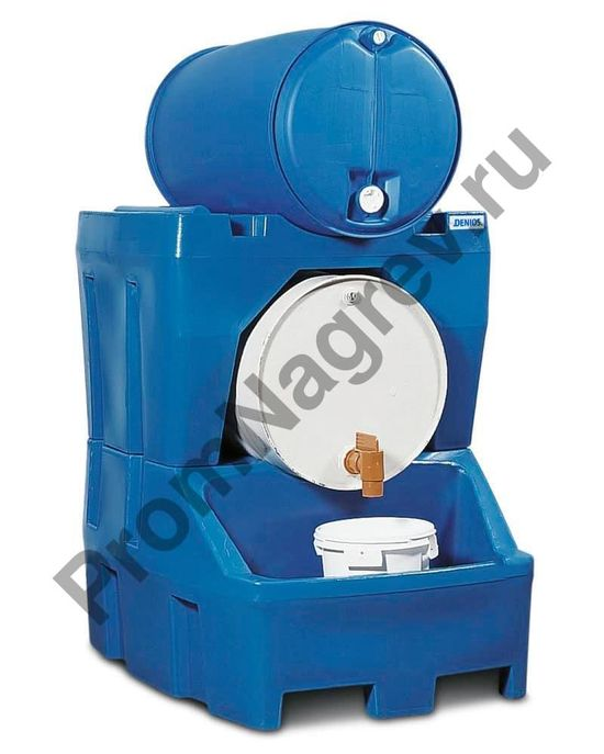 Синтетическая станция заправки вместе с подставкой-держателем (вместимость 2 бочки по 200 литров).