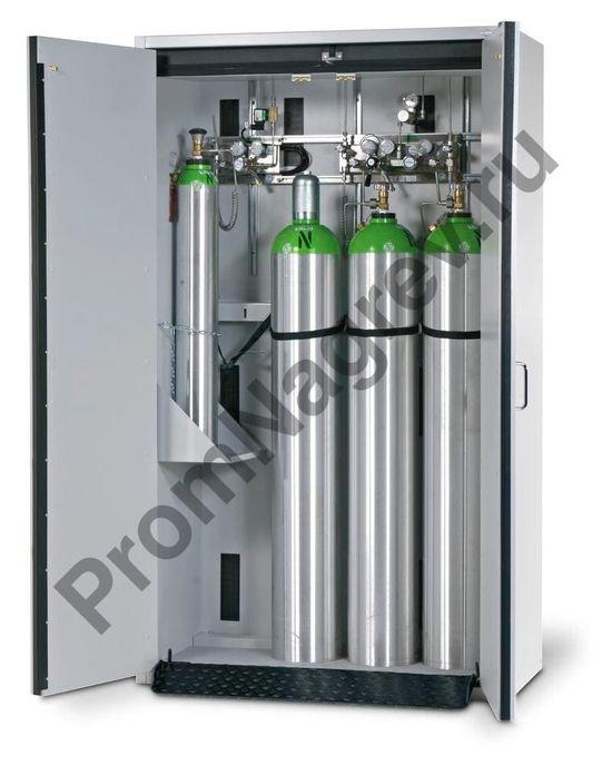 Огнестойкий шкаф для хранения 4 баллонов G30.12, тип 30, шириной 1200 миллиметров, с двустворчатой дверкой