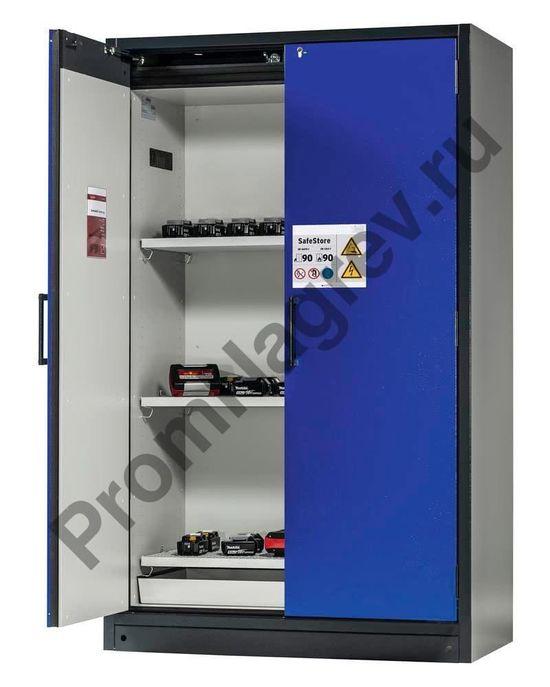 Шкаф для пассивного хранения аккумуляторов, стандартной комплектации, три полки, SafeStore.