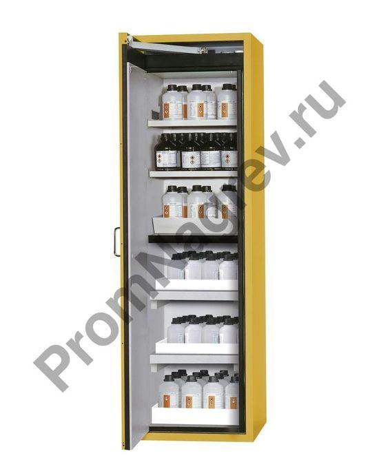 Шкаф многоцелевого хранения, желтый, узкий.