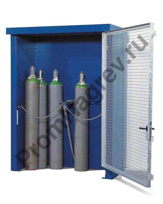 Уличный шкаф с дверью-решеткой под 12 газовых баллонов, максимально Ø 230 мм