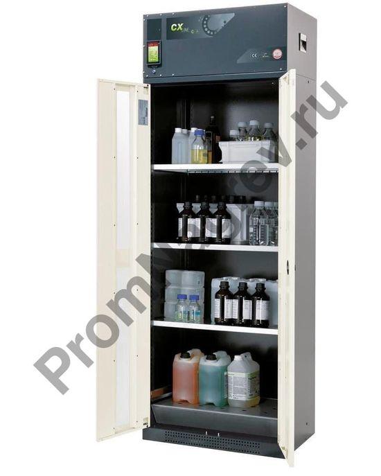 Шкаф с рециркуляцией воздуха для хранения опасных веществ, 3 полки и поддон, тип C-83