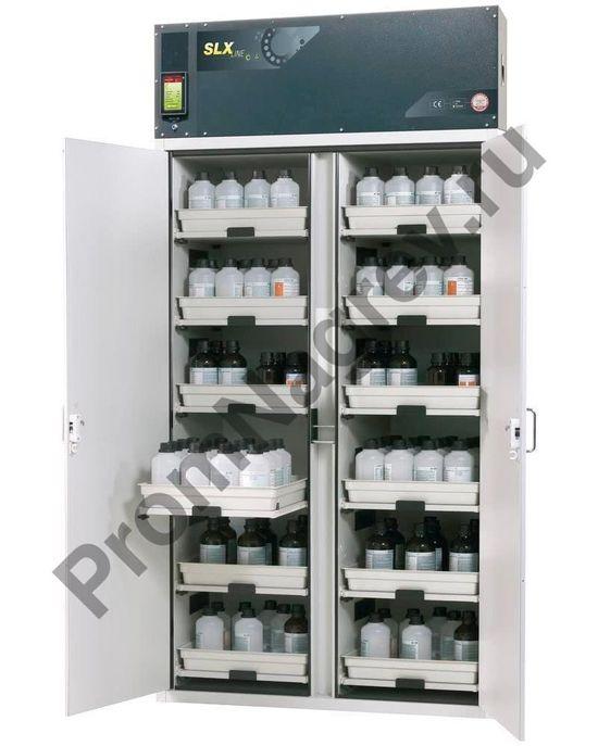 Шкаф с рециркуляцией воздуха для кислот и щелочей, 12 выдвижных поддонов, тип C-1212.