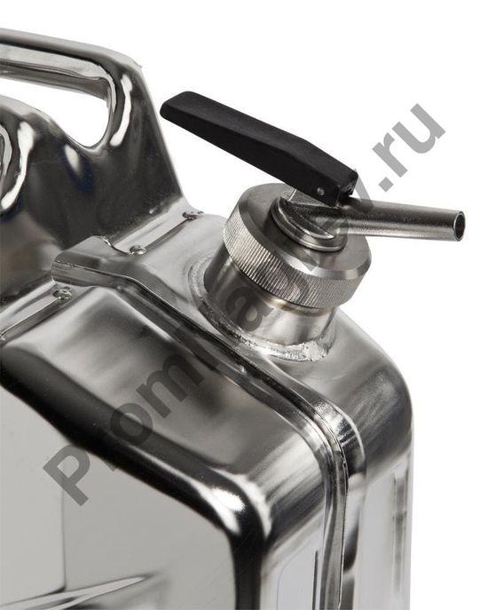 Канистра из нержавеющей стали с точным дозатором, объем 20 литров, пламегаситель в горловине