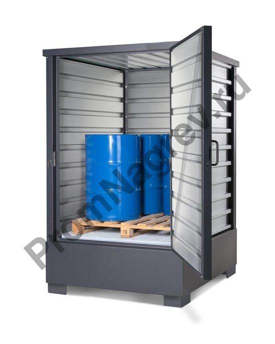 Оцинкованный контейнер для хранения ЛВЖ и водоопасных веществ, для 4 бочек по 200 литров