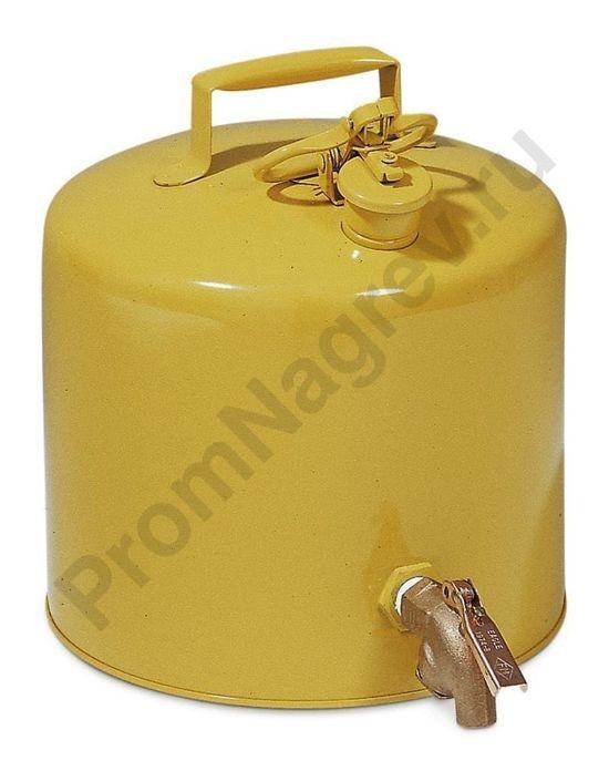 Стальная канистра для безопасного розлива, FM-проверенная, объем 19 литров