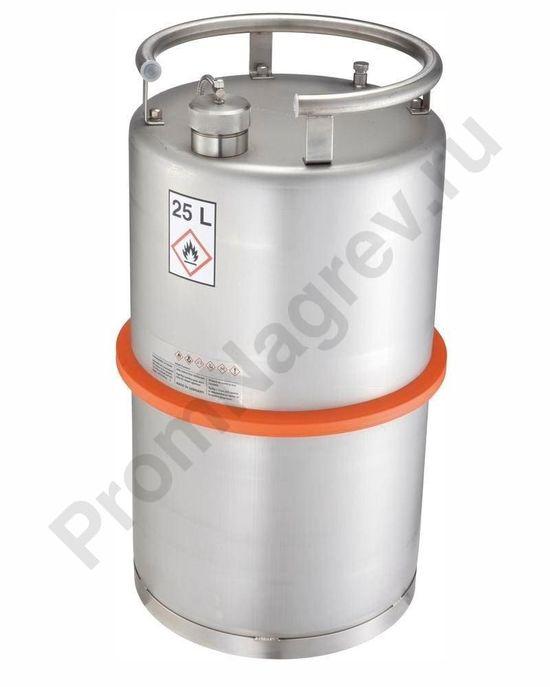 Транспортный контейнер из нержавеющей стали, объем 25 литров