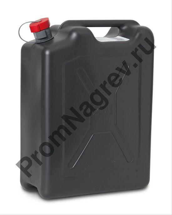 Пластиковая канистра со сточной трубкой для транспортировки и работы с опасными веществами, объемом 20 литров