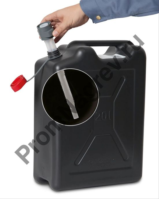 Пластиковая канистра со сточной трубкой 20 литров