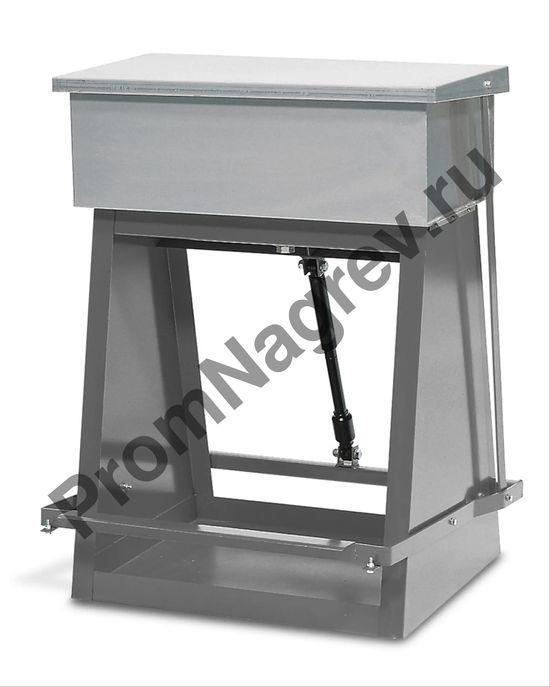 Ёмкость стальная для промывки крупных деталей с резервуаром для погружения, 60 литров,  680 х 950 мм