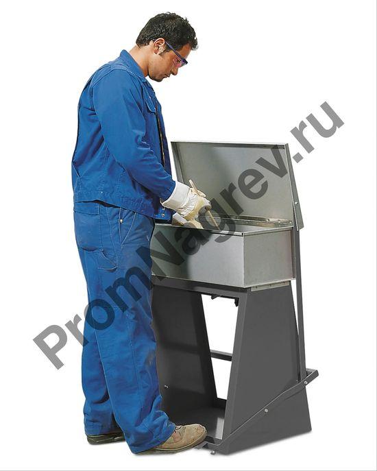 Ёмкость стальная для промывки крупных деталей с резервуаром для погружения, 60 литров