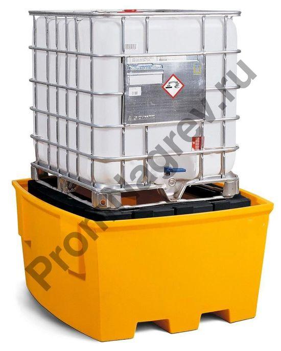 Поддон полиэтиленовый с пластиковой подставкой под еврокуб (IBC) из базовой серии.