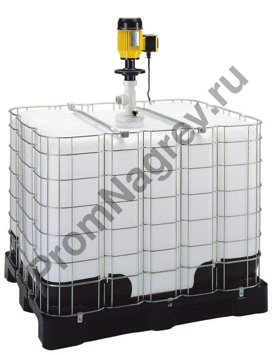 Контейнерный насос на IBC контейнер (еврокуб) для кислот и химических веществ, уплотнение из витона