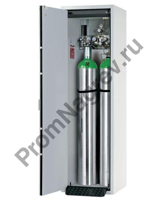 Металлический шкаф для двух газовых баллонов огнестойкий G30.60 шириной 600 мм, с дверкой слева, тип 30