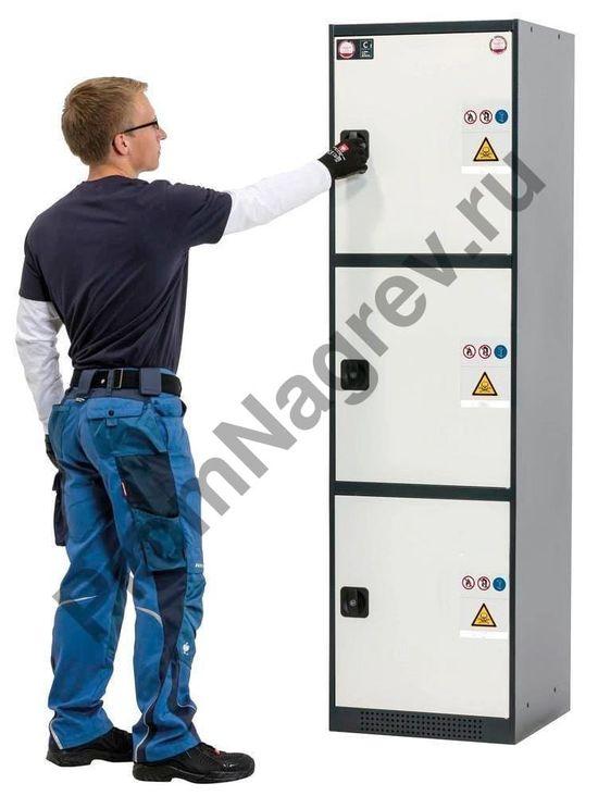 Шкаф предназначен для хранения токсичных, невоспламеняющихся опасных веществ в рабочих помещениях в соответствии с регламентом Trgs 510 опасных веществ.
