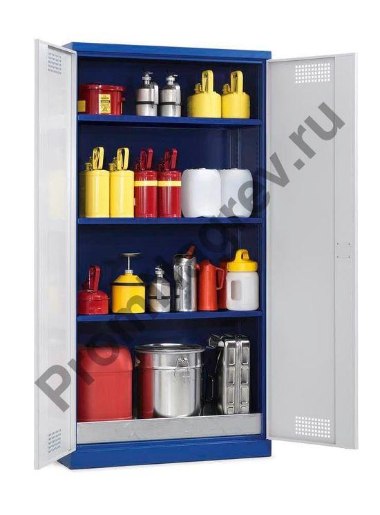Стальной корпус шкафа покрыт высококачественной полиуретановой краской (синего и серого цвета), что придаёт ему приятный внешний вид и защищает от коррозии.
