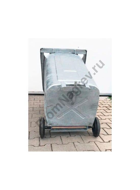 Мобильный контейнер для безопасного сбора нефтесодержащих отходов, встроенный слив, 2 колеса, объём 240 литров