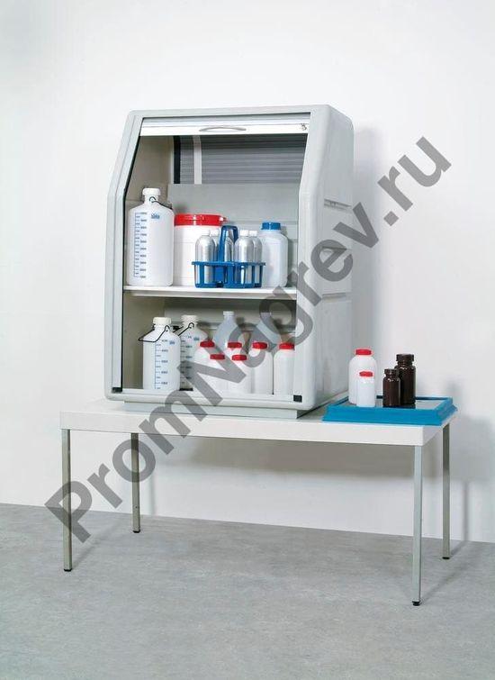 Шкаф предназначен для хранения нефти или кислот, щелочей и других агрессивных сред, как на производстве, так и в лаборатории.