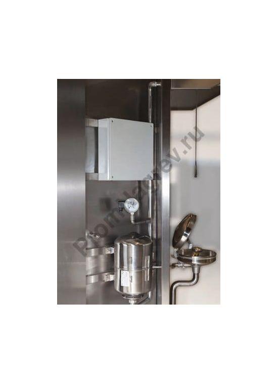 Аварийный комбинированный душ для глаз и тела с резервуаром,  с датчиком температуры и контроля уровня жидкости