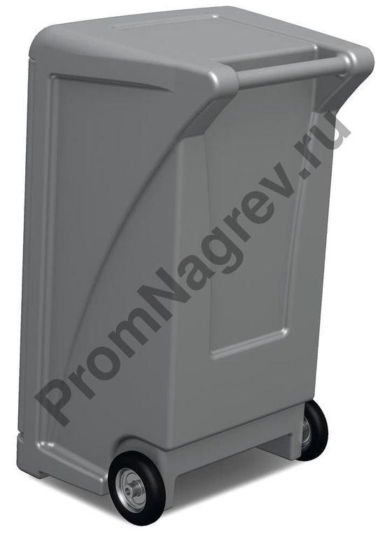 Сорбенты, упакованные в передвижную пластмассовую станцию на колесиках, на случай аварийного розлива масляных и нефтесодержащих жидкостей.