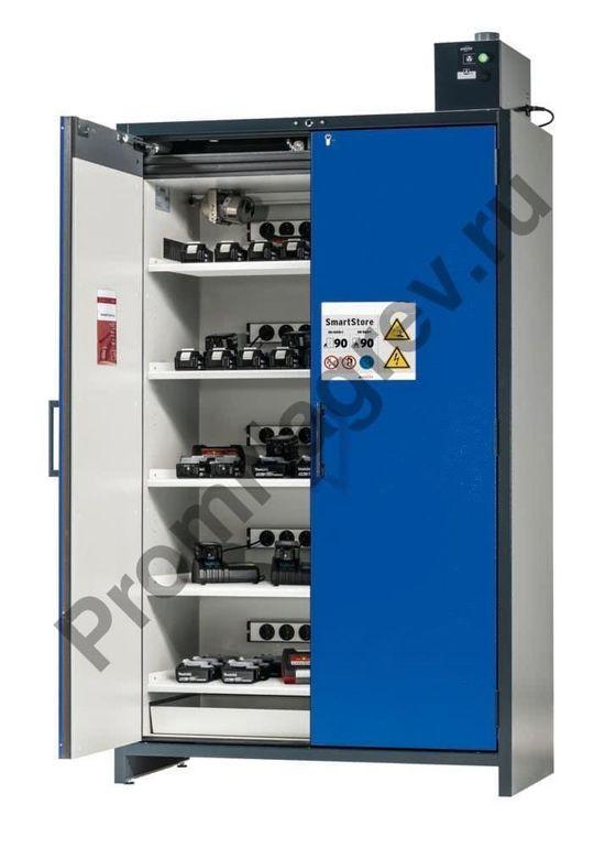 Шкаф для хранения и зарядки аккумуляторов, пять полок, SmartStore.